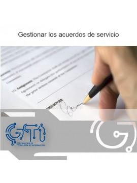 Gestionar los acuerdos de servicio